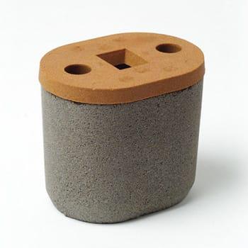 Ovale Kappe mit Spezialbrechkern